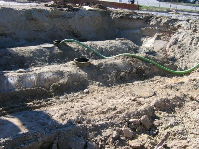 two abandoned leaking 10,000-gallon fuel tanks underground at The Northyards Parking Deck The Blue River Group