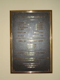 A Commemorative Plaque