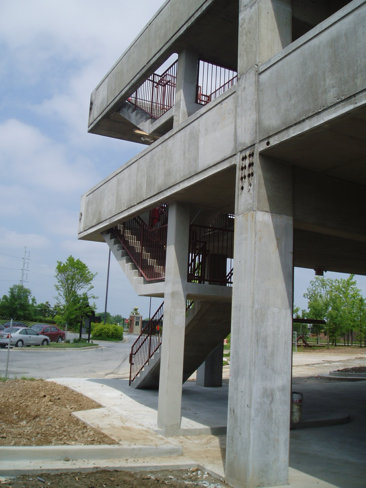 Staircase of the Blue River Group Northyards Parking Deck Project